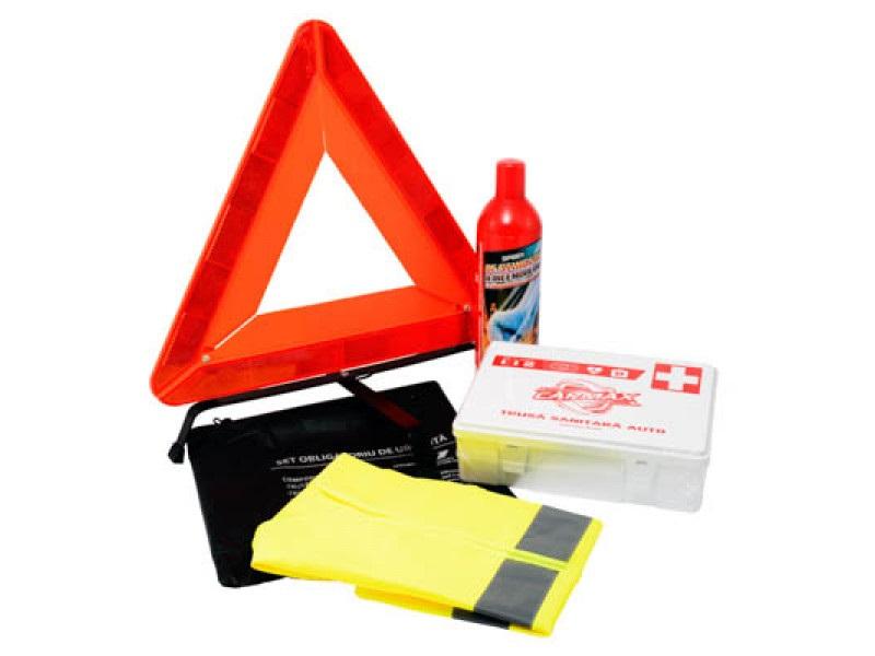 Kit auto obligatoriu de urgenta :  contine 4 produse